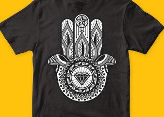 Hamsa graphic t shirt