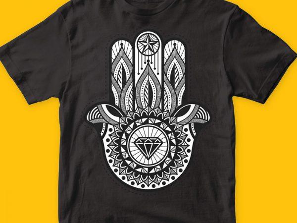 Hamsa buy t shirt design artwork