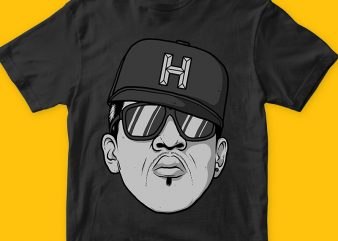 Hip Hop png graphic t-shirt design