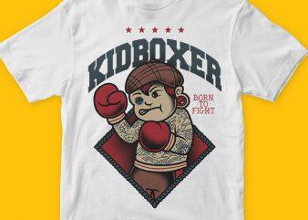 Kidboxer png t-shirt design