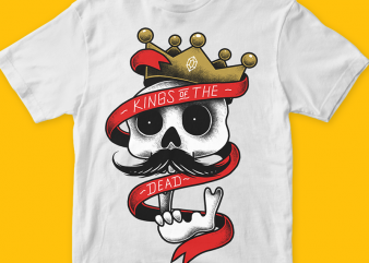 Kings of the dead t shirt vector art