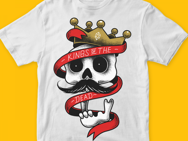 Kings of the dead t-shirt design for sale