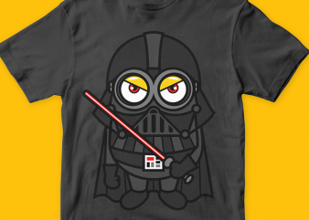Minions Vaders png t-shirt design