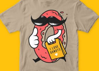 Mr Donuts png graphic t-shirt design