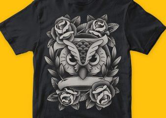 Owlove t shirt design online