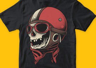 Pilot skull png t-shirt design