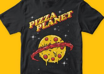 Pizza planet png graphic t-shirt design