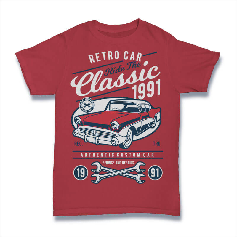 100 Retro T-shirt Designs pack1