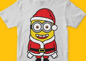 Santa Minions 2 png vector t-shirt design