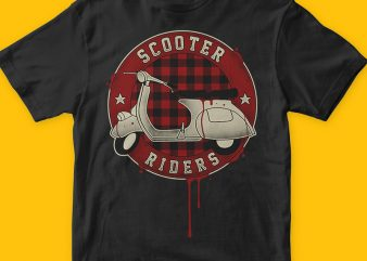 Scooter Riders t shirt design for download