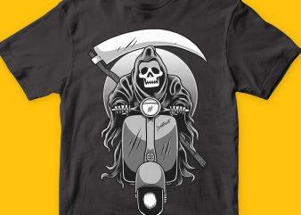 Scooter reaper buy t shirt design artwork