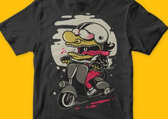 Scooterist t-shirt design png