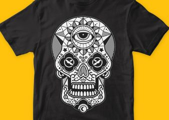 Skull Candy 2 t shirt template vector