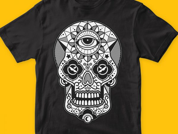 Skull Candy 2 commercial use t-shirt design