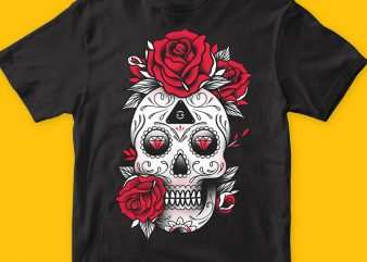 Skull Candy png t-shirt design