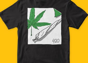 Stay high t shirt template vector