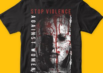 Stop Violence Against Women png t-shirt
