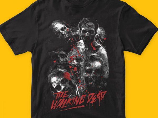 The walking dead t shirt design png