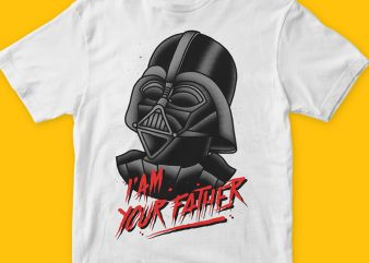 Vader t shirt design for sale