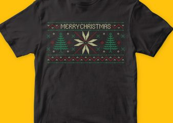 Xmas pattern vector t shirt design artwork