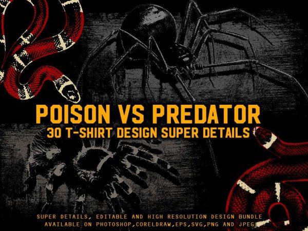 POISON VS PREDATOR 30 T-SHIRT DESIGN Bundle