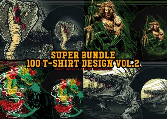 Super T-shirt Design Bundle 100 T-shirt Designs VOL.2