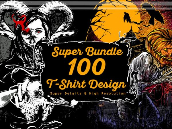 Super 100 T-shirt Design Bundle