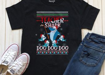 Teacher Shark Doo Doo Png Psd graphic t-shirt design