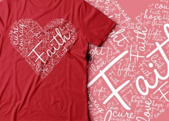 fight cancer heart design | cure cancer design | women tee