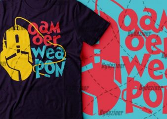gamer weapon tshirt | design for gamer | pubg and fortnite game tshirt