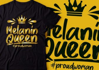 melanin queen with crown design |black power design | African american t shirt