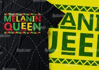 Melanin queen colourful design |black power design | African american t shirt