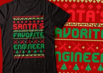 mantas favourite engineer | ugly Christmas sweater | Santa t shirt designs for sale