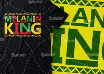 Melanin king colourful design |black power design | African american t shirt