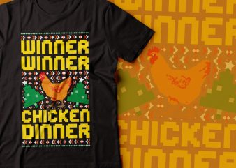winner winner chicken dinner t-shirt design | pubg game tshirt | PUBG