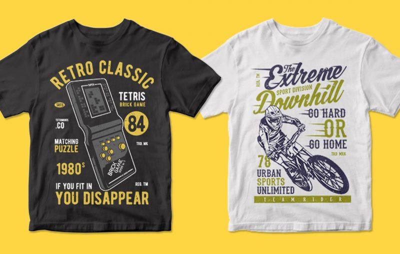 400 tshirt designs illustrations
