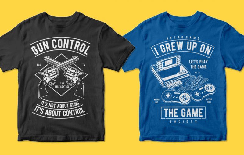 vector tshirt designs bundle