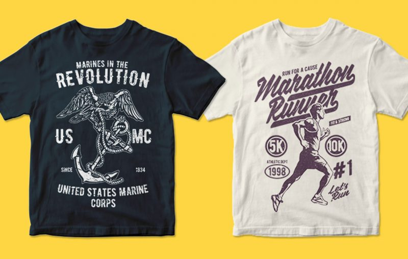 400 t shirt designs commercial use