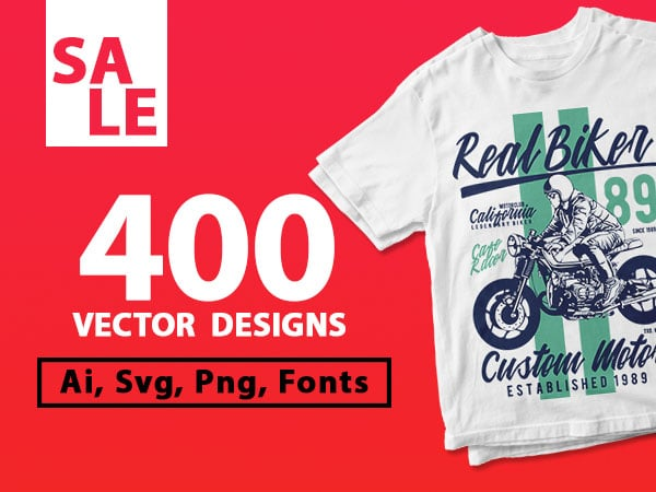 400 vector and png t-shirt designs bundle for commercial use
