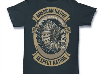American Native graphic t-shirt design