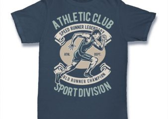 Athletic Runner buy t shirt design for commercial use