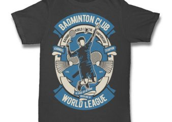 Badminton Club t shirt design to buy