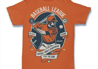 Baseball League t shirt design for purchase