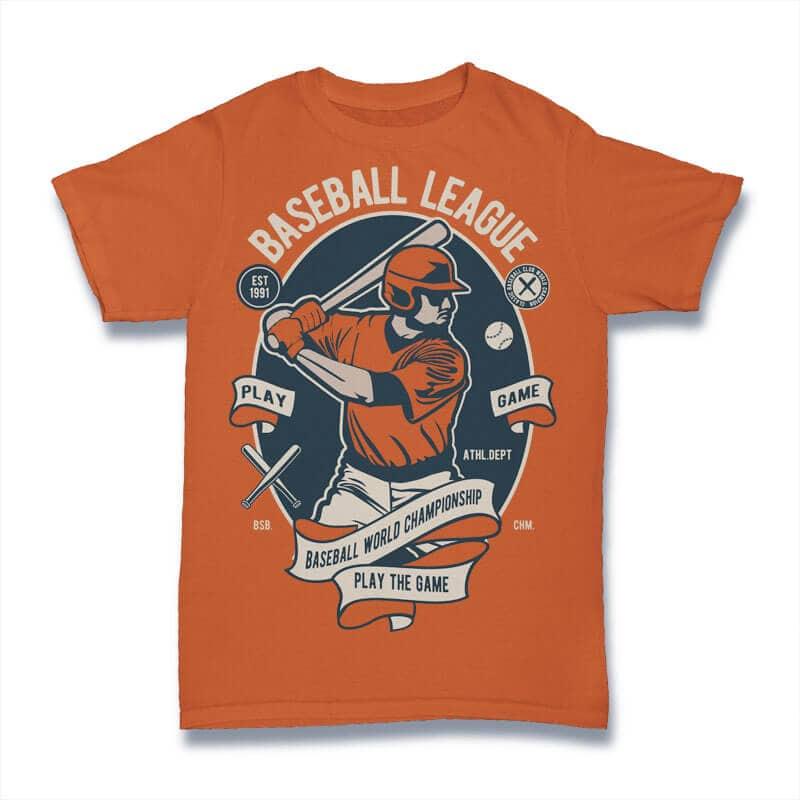 Baseball League t shirt design for purchase