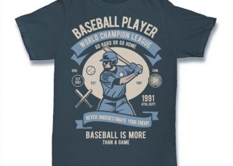 Baseball Player buy t shirt design