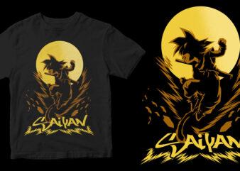 goku super saiyan ready made tshirt design