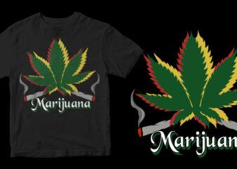 marijuana canabis t shirt design to buy