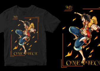 one piece graphic t-shirt design