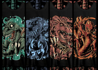 dinosaur tshirt designs bundle