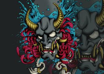 hannya oni mask demon